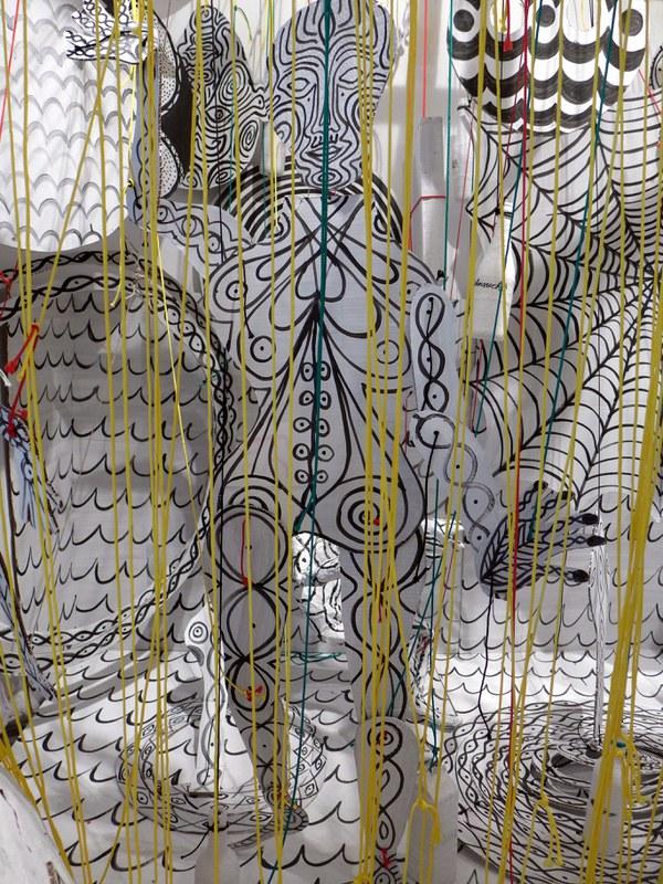 female figur /installation detail
